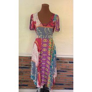 Plenty By Tracy Reese Kantha Patchwork Midi Dress